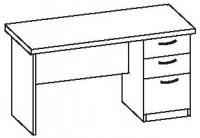 Стол офисный 2 СТ-614