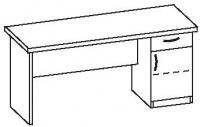 Стол офисный с тумбой 2 СТ-716
