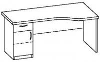Стол офисный 2 СТУ-160