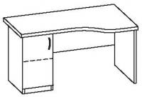 Стол офисный с тумбой 2 СУ-140