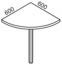 Приставной элемент 2 П-600