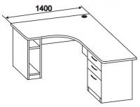 Стол компьютерный с тумбой 2 СТУ-164