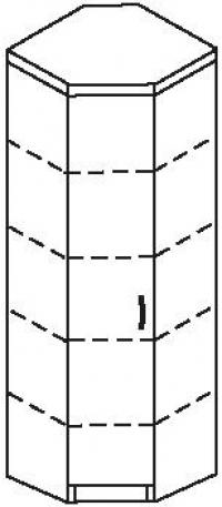 Шкаф угловой 3 ДКУ-618