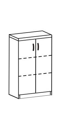 Шкаф-стеллаж 2 Д-711