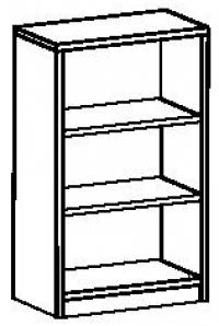Шкаф-стеллаж открытый 7 ДО-711