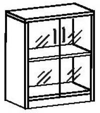 Шкаф со стеклом 7 ДС-707