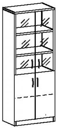 Шкаф со стеклом 7 ДС-728