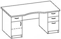 Стол офисный 7 СД-616