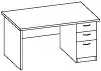 Стол офисный 7 СТ-614