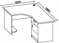 Стол офисный угловой 7 СТУ-123