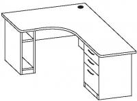 Стол офисный угловой 7 СТУ-164