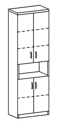 Шкаф-стеллаж 2 ДК-721