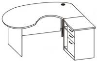 Стол компьютерный угловой 2 СА-170