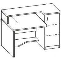 Стол компьютерный 2 СМ-712