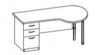 Стол офисный 2 СТА-160