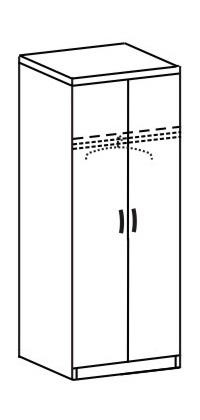 Шкаф платяной 2 ДП-761