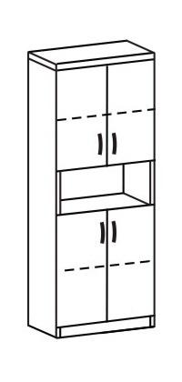 Шкаф-стеллаж 2 ДК-718