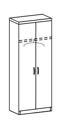 Шкаф платяной 2 ДП-718