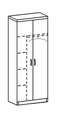 Шкаф платяной 2 ДП-737