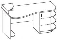 Стол компьютерный 2 СКО-167