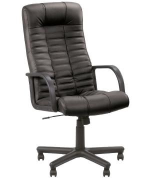 Кресло руководителя ATLANT кожа чёрная