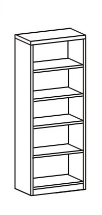 Шкаф-стеллаж открытый 2 ДО-718