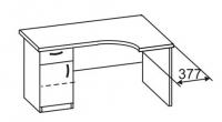 Стол офисный с тумбой 2 СУ-141