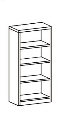 Шкаф-стеллаж открытый 2 ДО-714
