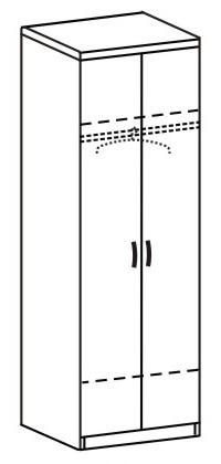 Шкаф платяной 2 ДП-762