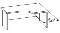 Стол офисный угловой 2 СУ-616
