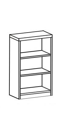 Шкаф-стеллаж открытый 2 ДО-711