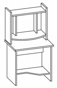 Стол компьютерный 2 СК-680