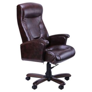 Кресло Галант DeepTilt кожзам Мадрас коричневый