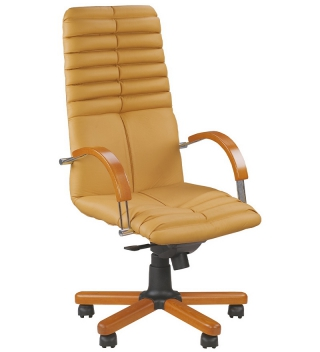 Кресло руководителя GALAXY wood chrome