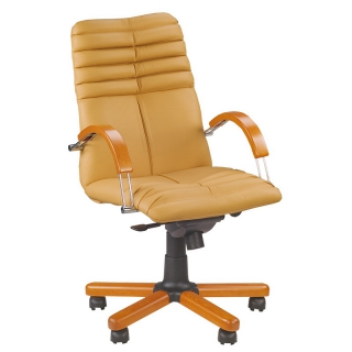 Кресло руководителя GALAXY wood chrome LB