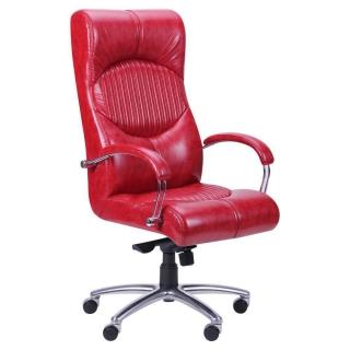 Кресло Геркулес хром красное