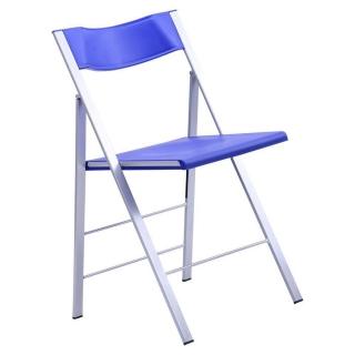 Стул Ибица пластик синий, рама алюминий
