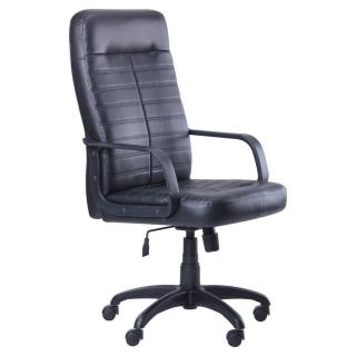 Кресло Ледли пластик кожзаменитель Скаден чёрный