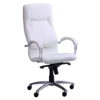 Кресло Ника HB хром кожзаменитель белый