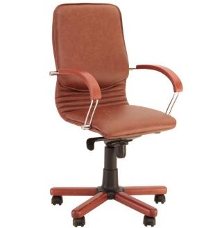 Кресло руководителя NOVA wood LB chrome