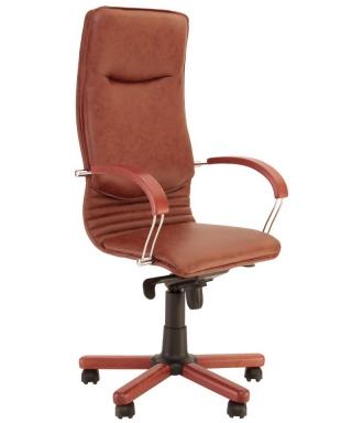 Кресло руководителя NOVA wood chrome