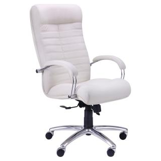 Кресло Орион HB хром кожзаменитель белый