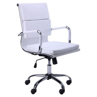 Кресло Slim FX LB кожзам белый