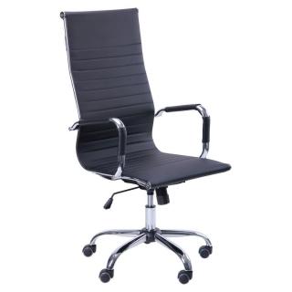 Кресло Slim HB кожзам чёрный