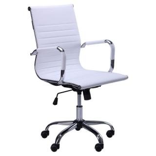 Кресло Slim LB кожзам белый