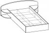 Кровать двуспальная 5 КР-125