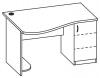 Стол компьютерный 2 СКО-162