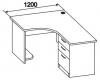 Стол компьютерный угловой 2 СТУ-132
