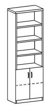 Шкаф-стеллаж 2 ДМ-721
