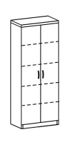 Шкаф-стеллаж 2 Д-718